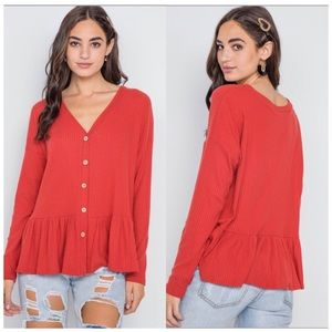 Long sleeve ribbed top buttery soft NWT 🇺🇸